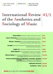Rubén Figaredo - International Review of the Aesthetics and Sociology of Music